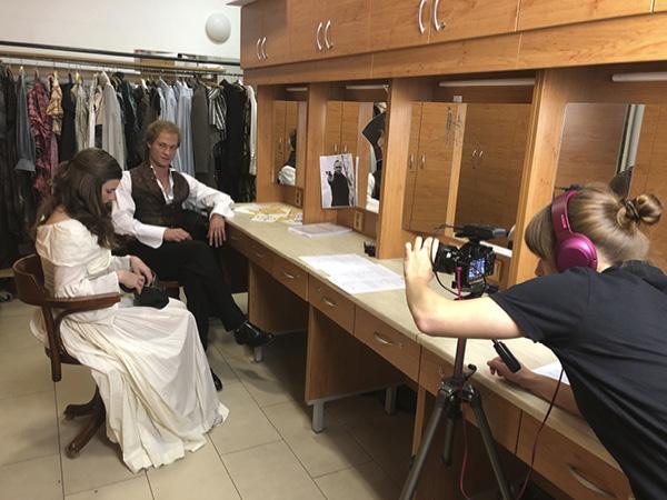 Natáčení 2. dílu seriálu V hlavní roli: Maturita! Dění v divadle očima divadelní pedagožky